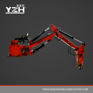 Stationary Hydraulic Rockbreaker Boom Systems