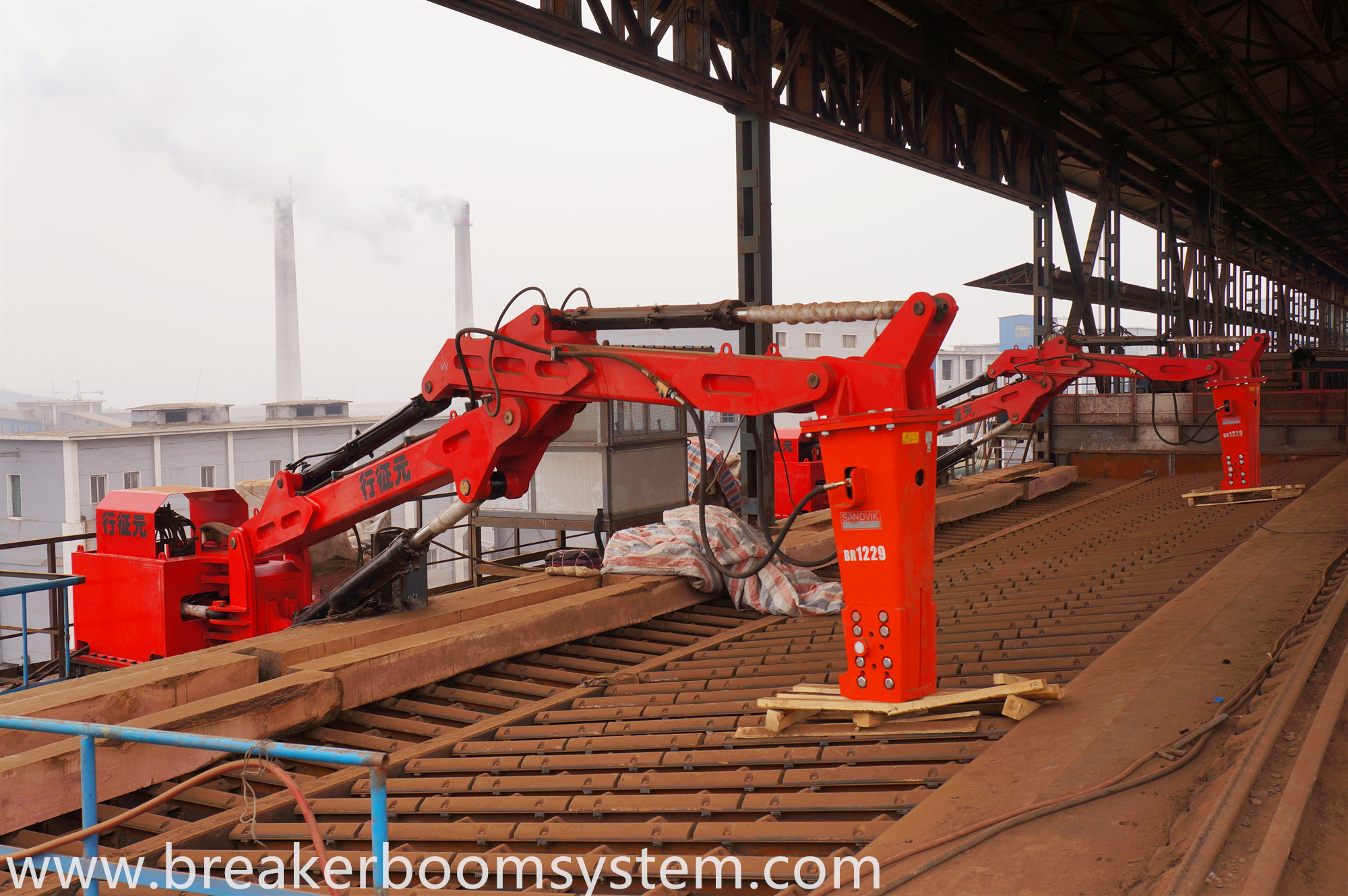 Hydraulic Rock Breaker Booms System