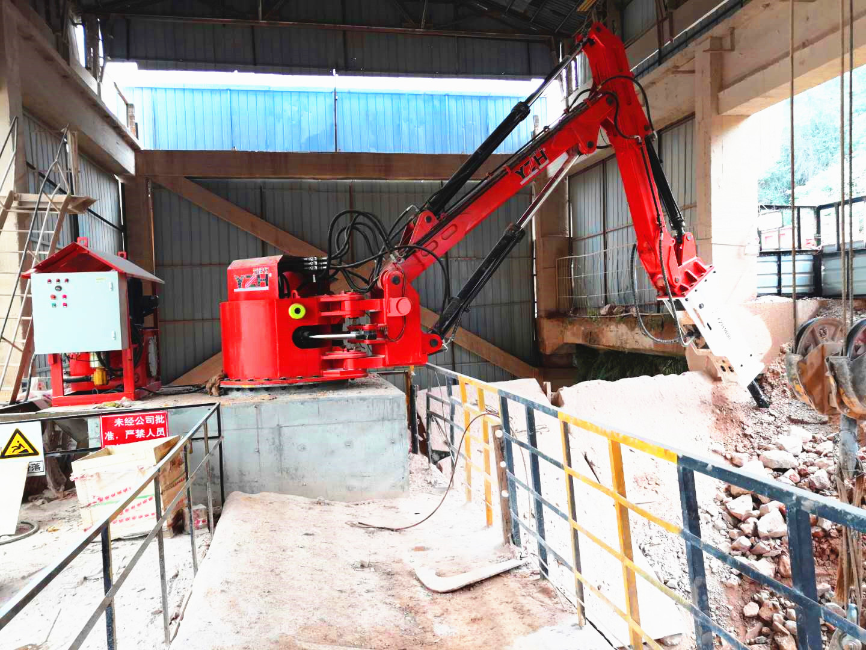 hydraulic pedestal booms system