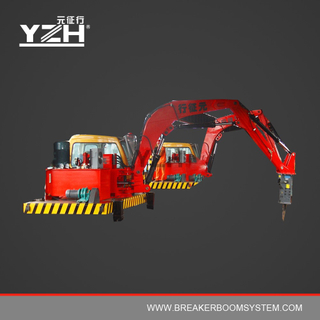 S630 Pedestal Boom Hydraulic Breaker System For Grizzlies