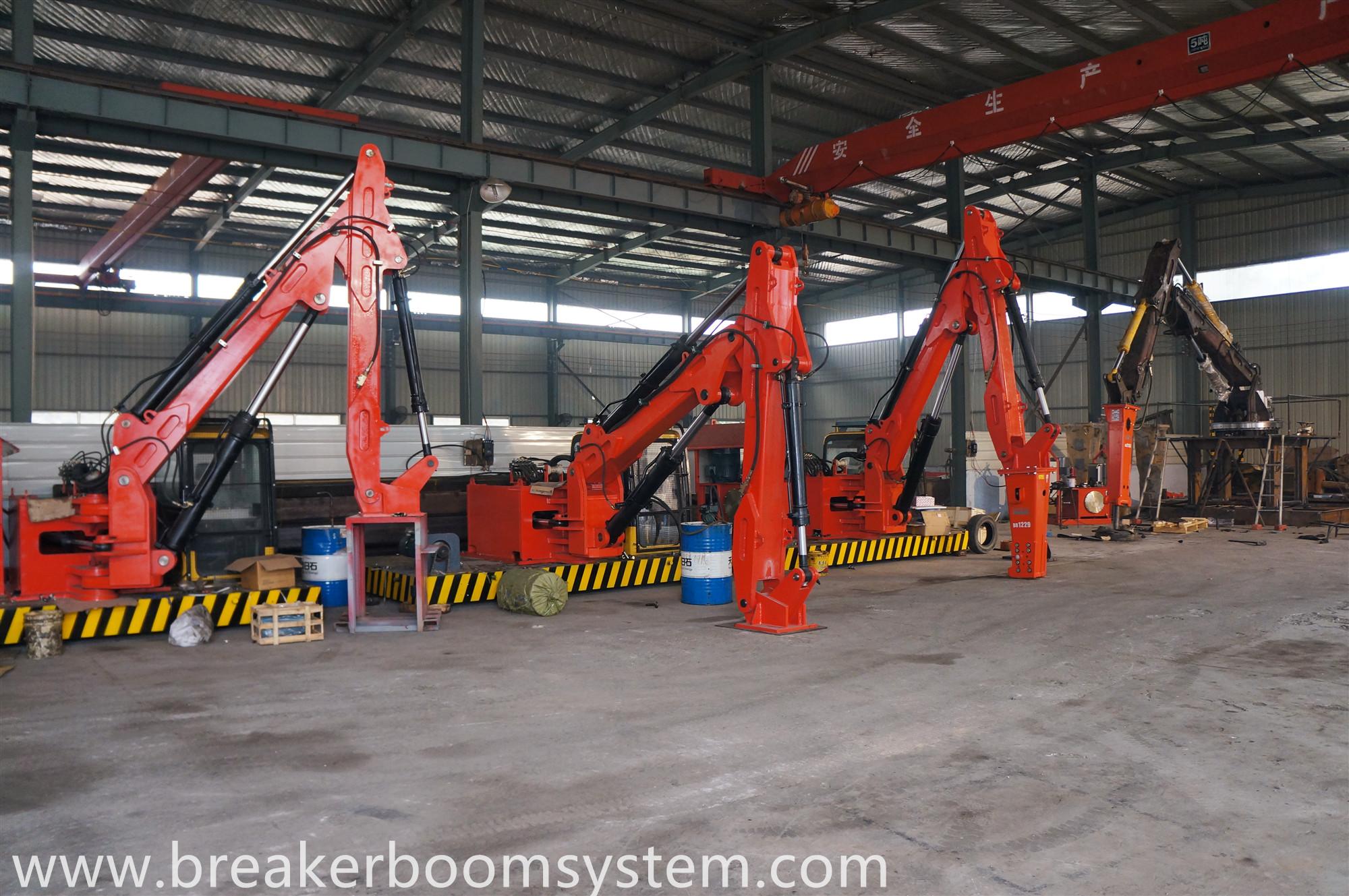 Pedestal Rockbreaker booms system