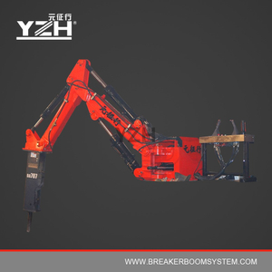 YZH-B300 170° Rotation Type Stationary Pedestal Rockbreaker Booms System