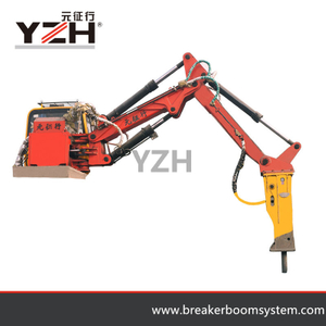 Stationary Type Pedestal Rock Breaker Booms Systems