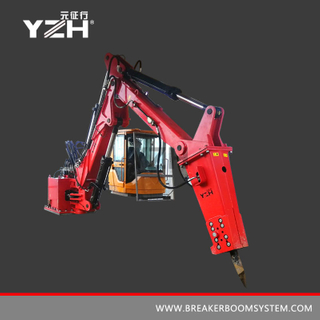 Stationary Pedestal Boom Mounted Rock Breaker System