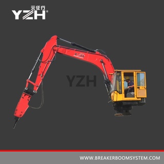 Pedestal Boom Breaker System For Grizzly Screen