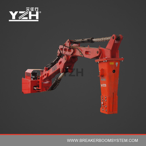 YZH-M550 170° Slewing Type Pedestal Fixed Boom Breaker System For Grizzly