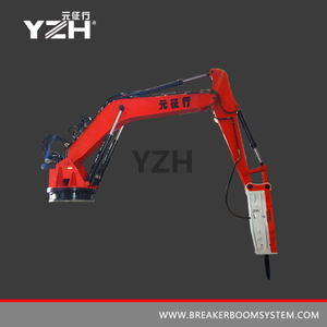 YZH-XL1200R 360° Revolving Stationary Type Pedestal Rock Breaking Booms System