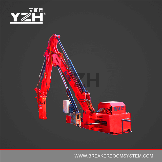 Stationary Type Pedestal Mounted Breaker Boom System