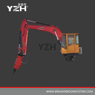 Mobile Pedestal Boom Breaker System For Primary Jaw Crusher