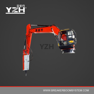 YZH-XL1020R Portable Robotic Rock Breaker Boom System For Mining