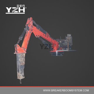 YZH-D300 360° Revolving Type Static Hydraulic Pedestal Boom With Breaker