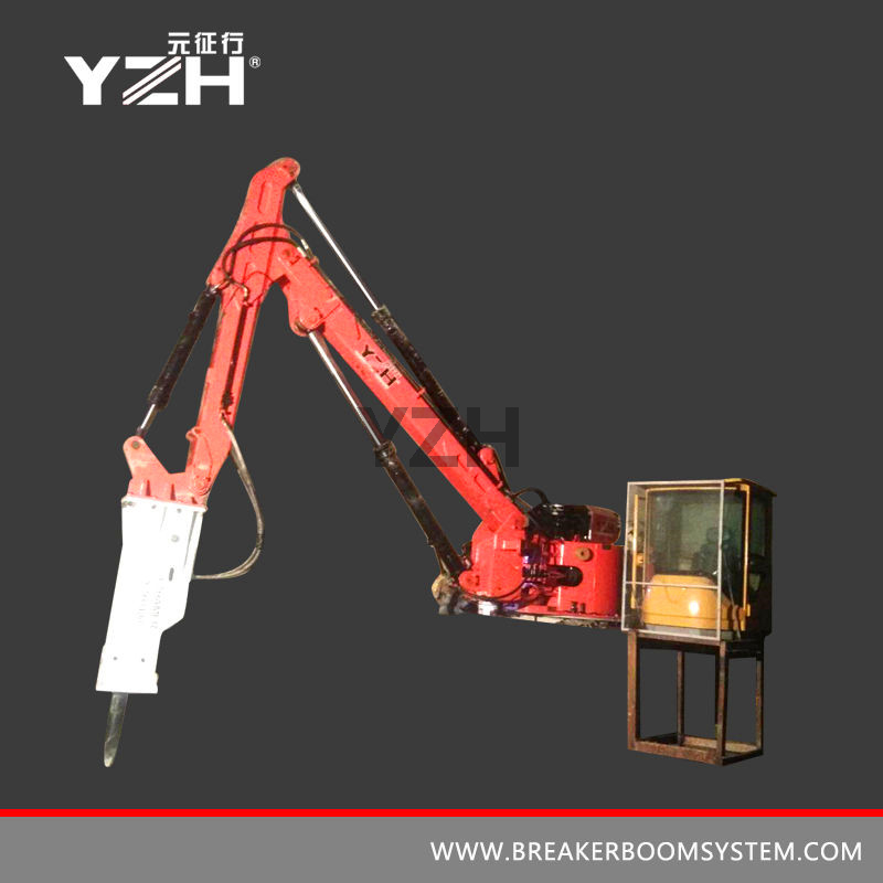 Stationary Type Pedestal Rock Breaking Booms System